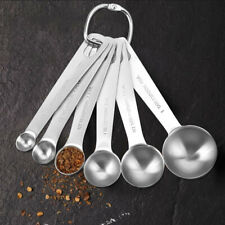 6 Size Stainless Steel Measuring Spoons Tea Coffee Sault Measure Tool Cooking