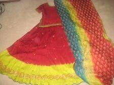 Pakistani Chunari Lengha Designer sharara gharara mehndi sz small
