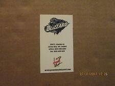 AF2 Green Bay Blizzard Vintage Defunct Logo Football Business Card