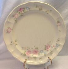 "PFALTZGRAFF STONEWARE TEA ROSE DINNER PLATE 10-3/8"" DIA PINK & BLUE FLOWERS USA"