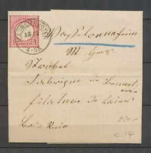 1874 Lettre à 1Groschen Obl MAURSMUNSTER Alsace Lorraine Superbe X3110