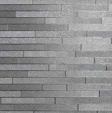 Arthouse Illusions Foil Slate Silver Wallpaper (294600)
