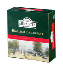 Ahmad Tea London Ceylon Tea English Breakfast 100 Tagged Tea Bags 200g