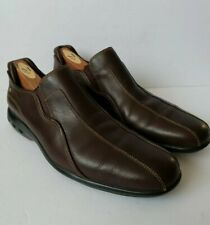 Cole Haan Nik Air G6 Men's 10 Brown Leather Bicycle Toe Loafers EUC