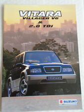 Suzuki Vitara Villager V6 & 2.0 TDi brochure Jan 1997 Dutch text