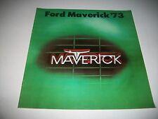 1973 FORD MAVERICK SALES BROCHURE  CDN ISSUE  GRABBER