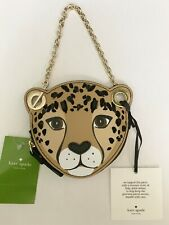 NWT Kate Spade Run Wild Leopard Coin Purse Wristlet Leather MSRP $119