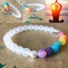 7 Chakra Stone Beads Balance Healing Natural 8mm Agate Oil Diffuser Bracelet