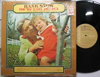 Country Lp Hank Snow You'Re Easy To Love On Rca