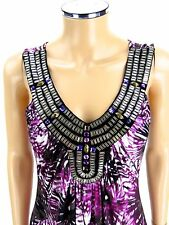 JOYOUS & FREE Cleopatra CollarDress SIZE SMALL Purple White NWT NEW Jewels