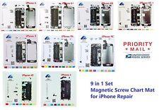 iPhone 4/4S/5/5S/5C/6/6+/6S/6S+  Magnetic Screw Chart Mat Repair Pad Guide 9in1