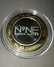 palms las vegas $10 silver strike - n9ne steak house token chip