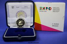 Italien 2015 - 2 Euro Gedenkmünze Weltausstellung Expo Mailand im Etui PP Proof