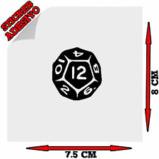 Sticker Adesivo Decal i'm The Dungeon Master D&D Dado D12 Auto Moto Tuning