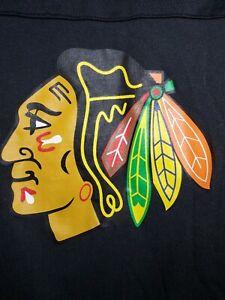 Reebok Face Off Chicago Blackhawks NHL Youth Size 5/6 Long Sleeve Shirt