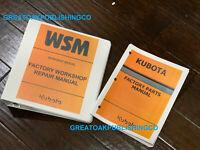 Kubota B7510 Tractor Workshop Service Manual & parts manual repair binder