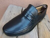 BALLY Mens Casual Dress Shoes Soft Blue Swiss Leather Slip On Loafers Size 7EEE