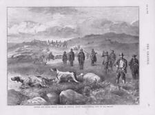 1873-antica stampa galles rhiwlas pointer setter Gallo Cedrone Trials cani pistole (128)