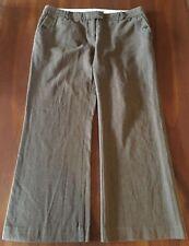 COUNTRY ROAD Caramel Brown Herringbone 100% Cotton Short Length Work Pants 16P