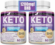 2 x Herbal Beauty KETO BHB 1200mg PURE Ketone FAT BURNER Weight Loss Diet Pills