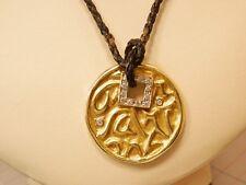 Seidengang SG 18K Yellow Gold Love, Health Happiness Diamond Pendant with Cord