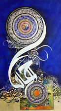Islamic Arabic Quran 100% HANDMADE Home Deco Art Calligraphy painting on Canvas