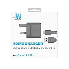 Just Wireless Cargador Rápido 3.1Amp Doble USB Reino Unido & 2 M Cable Para Samsung HTC Sony LG