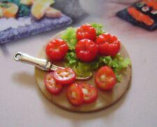 1 dolls house miniatures food tomatoes  tray maison de poupée Dolls house fimo^^