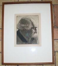 Otto von der Wehl Porträt Alter Mann original Radierung Herrenporträt