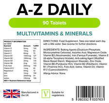 Lindens Complete A-Z Daily Multivitamin Tablets Adults Men / Women Multi Vitamin