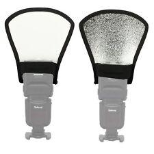 1X 2-in-1 Silver/White Camera Flash Diffuser Softbox Photo Flash Light Reflector