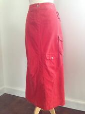 OILILY Orange Cordoroy Conveted Jeans Cargo Skirt NWT 36 S M