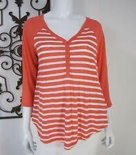 Splendid Long Sleeve Casual Knitwear Blouse Size M, Orange Strap