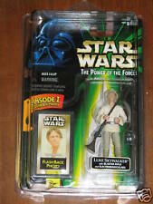 Luke Skywalker w/blaster rifle (POTF - Flash Back)  **Star Wars Unopened**