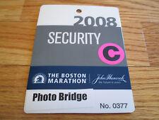 112th Boston Marathon April 2008 Photo Bridge Laminated Security Badge