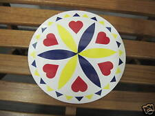 """8"""" PA Dutch Hex Sign-H2(yellow) Love and Romance Made In The USA"""