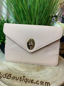 Serena Luxe Collection Nude Envelope Clutch Bag Ladies Handbags and Purses