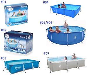 Bestway Frame Swimming Pool Schwimmbad Gartenpool Framepool Schwimmbecken