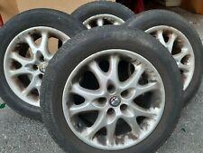 """4 Cerchi Lega Alfa Romeo 147 5 fori da 15 """" numero originale 46557982"""