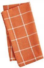 Pier 1 Imports Cloth Napkin Rust Pane Checkered Orange New
