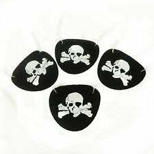 Black Felt Pirate Eye Patches Party Favors Skull Bones Halloween Costume Prop