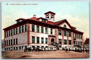 "Vintage PPC Postcard - ""Public School, Carson City, Nevada"""