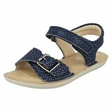 948e776537d Girls Clarks Hook   Loop Fastening Leather Sandals Ivy Blossom UK 11.5 Kids  Blue F