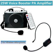 More details for 25watt voice booster amplifier speaker + remote control + fm wireless microphone