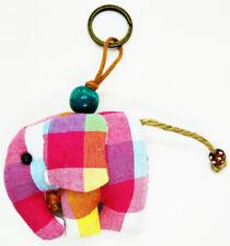 Doll Keyring Scotch Elephant Pattern Sewing Charm Cute Fabric Animal Lover