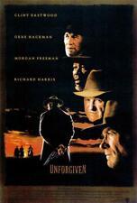 Unforgiven Movie Poster 27 x 40 Clint Eastwood, Gene Hackman, Morgan Freeman, A