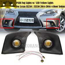 LED DRL Fog Lights Kit Bezel Wiring For Lexus IS250 IS350 2014 2015 2016 F-Sport