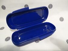 NEW Tupperware TBar Keeper for Snacks Muslie Bars Cutlery Blue NEW