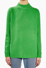 TOPSHOP Cutout Wool/Cashmere Sweater Green US 10 NWT $170