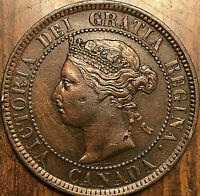 1884 CANADA LARGE CENT PENNY - Obv#2 variety - Excellent example!